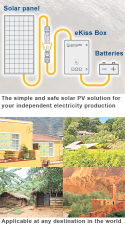 The simple and safe solar PV solution for your independent electricity production by Antaris Solar