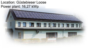 Photovoltaik Referenzanlage Guestebiester 16,27 kwp build by Antaris