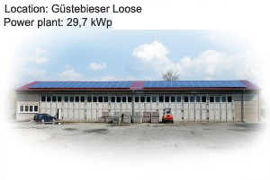 Photovoltaik Referenzanlage Guestebieser Loose  29,7  kWp build by Antaris