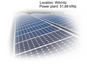 Photovoltaik Referenzanlage Woernitz 51,68 kWp build by Antaris