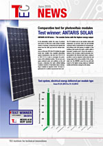 TEC Institut - Photovoltaic Modules Test Winner Antaris ASM Series